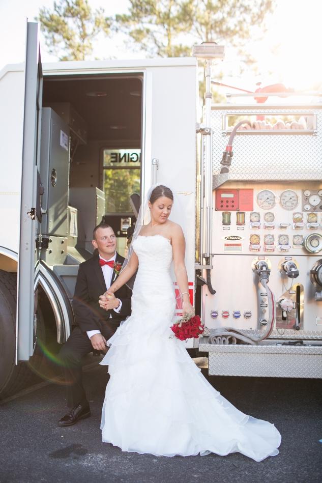 Virginia Fall Firefighter Wedding Photo 49