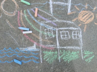 new home chalk picture